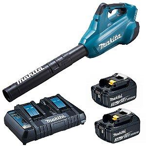 Soprador de Ar à Bateria 36V DUB362Z com 2 Baterias 18V + Carregador 127V Makita