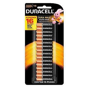 Pilha Alcalina AAA Embalagem com 16 unidades - Duracell