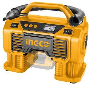 Compressor de Ar Automotivo S/ Bateria e Carregador 20V Veicular 12V CACLI2002 - Ingco