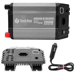 Inversor de Voltagem 12V para 110V 2000W com USB - Tech One