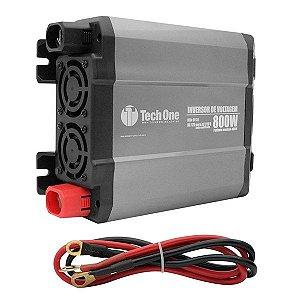 Inversor de Voltagem 12V para 220V 800W com USB - Tech One