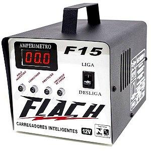 Carregador de Baterias 5A 12V com Auxiliar de Partida 15A Bivolt Flutuante - F15 - Flach