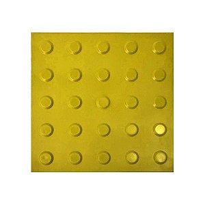 Piso Tátil Alerta Amarelo - 25 x 25 cm