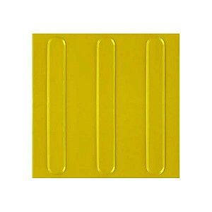 Piso Tátil Direcional Amarelo - 25 x 25 cm