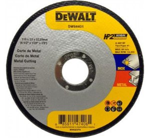 "Disco de Corte Fino HP2 DW84401 4.1/2"" x 1,0mm x 7/8 - Dewalt"