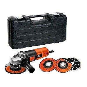 Esmerilhadeira Lixadeira 4 1/2 G720 + 12 Discos - G720K12 - Black & Decker