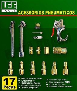 Kit De Acessórios Pneumáticos Com 17 Peças