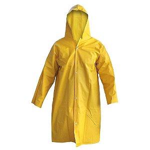 Capa de Chuva em PVC Amarela Forrada Tamanho G - Plastcor