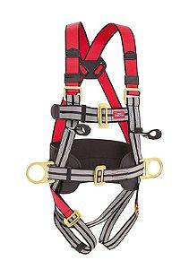 Cinto de Poliester tipo Paraquedista com 3 Pontos de Ancoragem - Steelflex