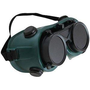 Óculos Lente Dupla Redonda Incolor e Escuro Articulável - Western