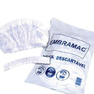 Touca Falso Tecido Branca (Caixa com 100) - Embramac