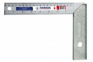 "Esquadro de Alumínio  de 20cm de 8"" - Simetal"
