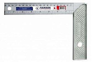 "Esquadro de Alumínio  de 30cm 12"" - Simetal"