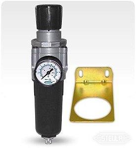 Filtro de Ar de 1/2 com Regulador FR2420 - Steula