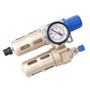 Filtro de Ar de 1/4 com Regulador e Lubrificador AEFC2000N - Fluir