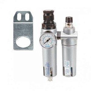 Filtro de Ar de 1/4 com Regulador e Lubrificador FRL1200 - Steula