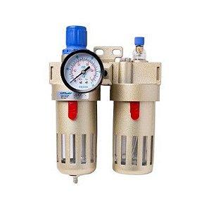 Filtro de Ar de 1/2 com Regulador e Lubrificador BEFC4000N - Fluir