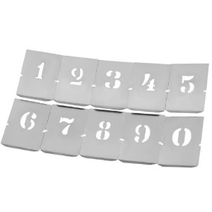 Jogo Numérico Chapa de 10 peças (Várias Medidas) - Krause