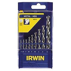 Jogo de Brocas Aço Rápido com 5 peças de 1/8 a 1/4 - Irwin