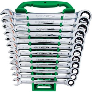 Jogo de Chave Combinada Catraca com 12 peças  de 8 a 19mm - Belzer
