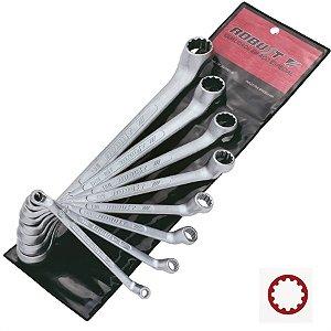 Jogo de Chave Estrela com 8 peças  de 6 a 22mm - Robust
