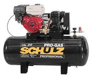 Compressor à Gasolina 20 Pés 200 Litros 8,0HP - Schulz