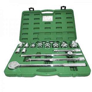 Jogo de Soquetes com encaixe de 3/4 de 22 a 50mm com 14 peças - Belzer