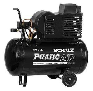 Compressor de Baixa Pressão 7,4 Pés 50 Litros CSI 7,4/30mm 5CV - Schulz