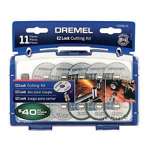 Kit de Acessórios de Corte EZ-Lock com 11 peças Dremel - Bosch