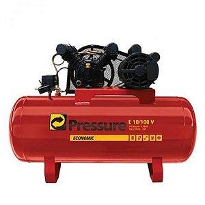 Compressor de 10 Pés 100 Litros com Motor 2HP Economic - Pressure
