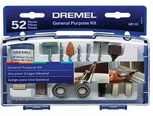 Kit de Acessórios para Dremel com 52 peças - Bosch