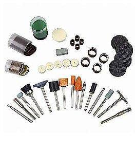 Kit de Acessórios para Mini Retifica com 105 peças - Black Jack