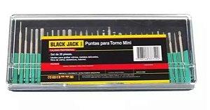 Kit de Pontas para Mini Retifica com 30 peças - Black Jack