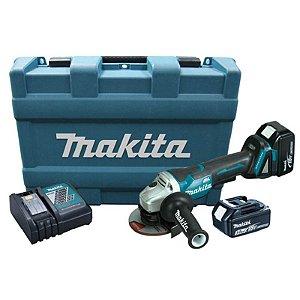 Esmerilhadeira 4.1/2 DGA455RFE 18V 220V - Makita