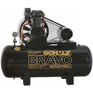 Compressor de 20 Pés 200 Litros com Motor 5HP - Bravo