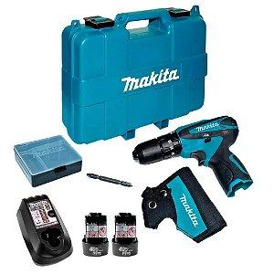 Furadeira e Parafusadeira de Impacto 3/8 12V Bivolt + Acessórios - Makita