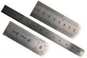 Régua de Aço em Inox de 30cm - Brasfort