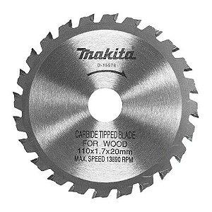 Serra Circular de 4.3/8 x 20mm com 24 Dentes - Makita