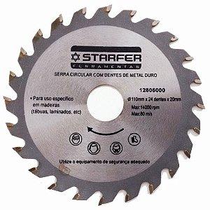 Serra Circular de 4.3/8 x 20mm com 24 Dentes - Starfer