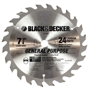 Serra Circular de 7.1/4 x 20mm com 24 dentes - Black & Decker