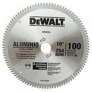 Serra Circular de 250mm com 100 dentes em Alumínio DW03220 - Dewalt