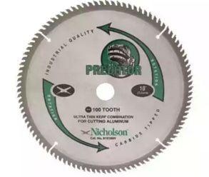 Serra Circular de 250mm com 100 dentes em Alumínio - Nicholson