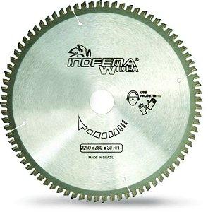 Serra Circular de 250mm com 80 dentes em Alumínio - Indfema