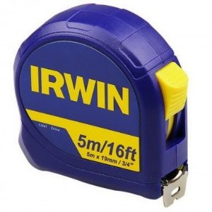 Trena de Fita de Aço de 5 metros x 19mm - Irwin