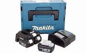 Kit Carregador de Baterias 18V DC18RC + 2 Baterias 3.0AH 127V - Makita