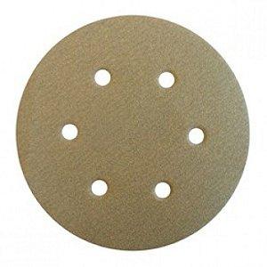"""Disco de Lixa com Velcro de 6"""" para Reparação Automotiva de 6 furos - Klingspor"""