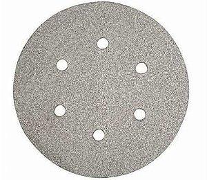 """Disco de Lixa com Velcro de 6"""" para Reparação Automotiva de 6 furos - Norton"""