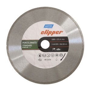 Disco Diamantado de 200mm Liso Clipper para Porcelanato - Norton