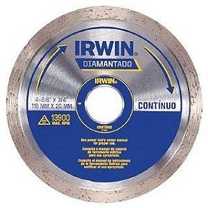 Disco Diamantado de 4.1/2 Liso com Bucha - Irwin