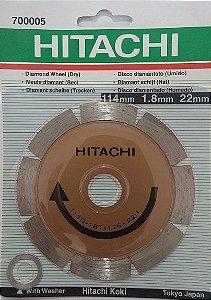 Disco Diamantado de 4.1/2 Segmentado com Bucha - Hitachi